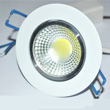 LED Recessed Downlight 7W 9W 12W  COB Chip LED Ceiling light Spot Light Lamp White/ Warm white