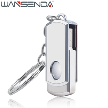 Real Capacity Stainless Steel Swivel USB Flash Drive Pen Drive 4GB 8GB 16GB 32GB 64GB 128GB Pendrive USB 2.0 Memory Stick(China)