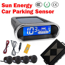 Wireless solar power/sun energy car parking sensor/ reversing kit /parking assist system free shipping A01-4(China)