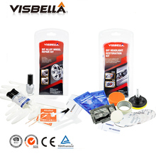 Alloy wheel repair adhesive kit 5 minutes general purpose alloy silver paint DIY fix tool and Headlights Restoration Kit for car(China)