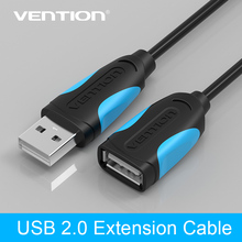 Vention USB Extension Cable USB 2.0 Cable Male to Female Data Sync Transfer Extender Cable for Computer Cable USB Extension(China)