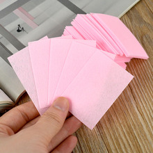 70pcs Cotton Nail Art Tips Polish Remover Cleaner Wipes Lint free Pink(China)