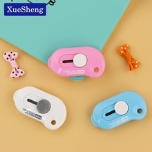 3 PCS Cute Solid Color Mini Portable Utility Knife Paper Cutter Cutting Paper Razor Blade Office Stationery Escolar Papelaria(China)