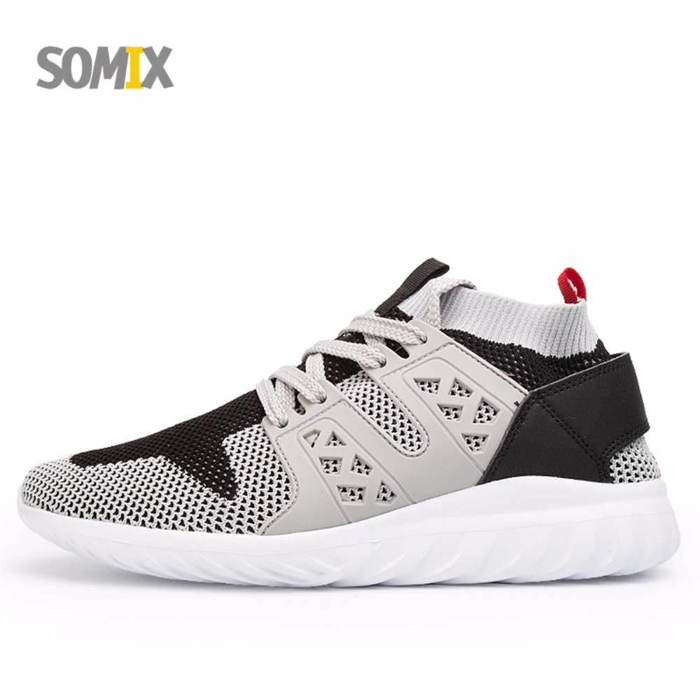 Somix 2017 New Men Running Shoes UltraLight Sock Dart Breathable Outdoor Sport Sneakers Lace-Up Comfortable Sport Shoes Training<br>