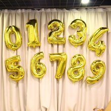 30 Inch Gold Number Birthday Wedding Decorations Digit Foil Balloons Air Helium Balloons Event Party Supplies Inflatable Toy Hot(China)