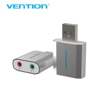 Vention Высокое Качество Al Mg Alloy USB 2.0 Внешний Звук карта 2.1 Канала Нет Диск Внешний Стерео Адаптер для Windows/Linux/Mac