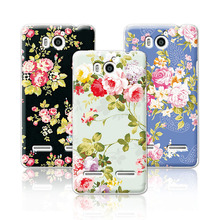 Luxury Floral Art Painted Case Huawei Honor 2 U9508 U8950D T8950D Ascend G600 Cover Flower Phone Case Huawei U9508+Free Pen