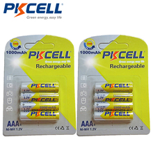 8Pcs/2card PKCELL Ni-MH AAA Batteries 1000mAh 1.2V AAA Rechargeable Battery for Camera/Flashlight/Toy(China)