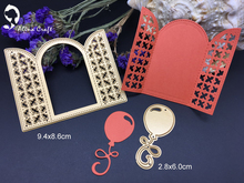 Metal cutting dies grid window balloon arch door  Scrapbook card album paper craft home decoration embossing stencil cutter