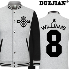 DUZJIAN Spring new Maverick Deron Williams casual jacket cheap men winter jackets male coat maillot paris 2016 jacket hip hop(China)