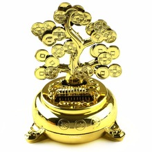 NEW Solar Powered Money Tree Desk Car Dancing Flip Flap Decor Chinese Feng Shui Toy(China)
