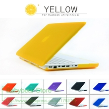 "2in1 Matte Hard Case for Apple Laptop For Macbook Mac Book White 13"" MC 516 MC207 A1342 + Free Keyboard Cover(China)"
