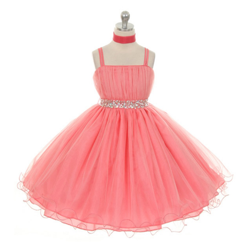 Cute Girls Kids Party Dress Kids Rhinestone Bow knot Party Graduation Bridesmaid Lovely Dress Childrens Clothing<br><br>Aliexpress