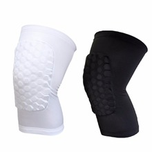 New Kids Adult with honeycomb Pad Basketball Leg Knee Protector Short Sleeve anti slip band Gear Crashproof outdoor activities(China)