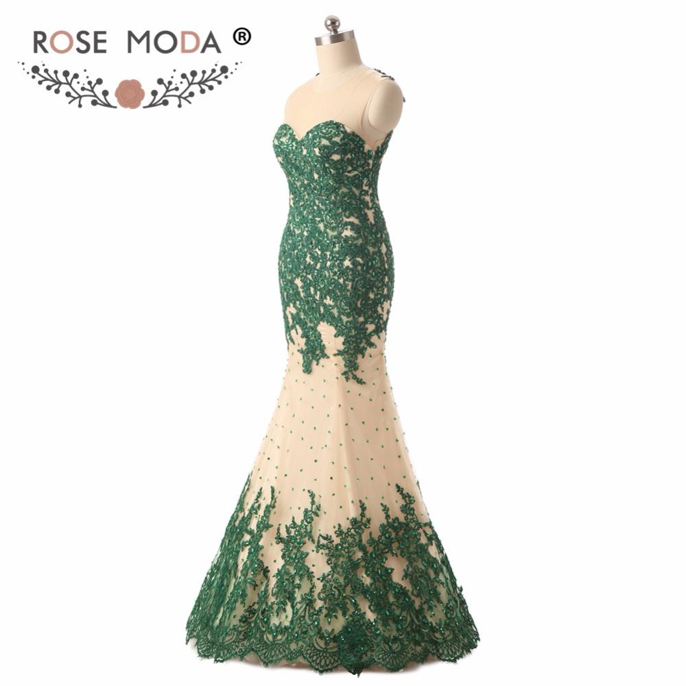 green prom dressb