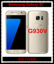 "Samsung Galaxy S7 G930V Original Unlocked 4G LTE GSM Android Mobile Phone Quad Core 5.1"" 12MP RAM 4GB ROM 32GB 3000mAh(China)"