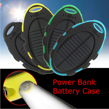 Hot Product DIY 5000mAh Dual USB Backup Portable Charger Solar Power Bank Case for Mobile Phone portable charger(China)