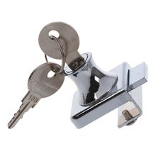 Stainless Stell Showcase Display Cabinet Glass Door Lock w 2 Keys(China)