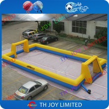 Free shipping! 15x8m giant Inflatable soccer football pitch Field, Inflatable Soccer court,street soccer Inflatable Sport arena(China)
