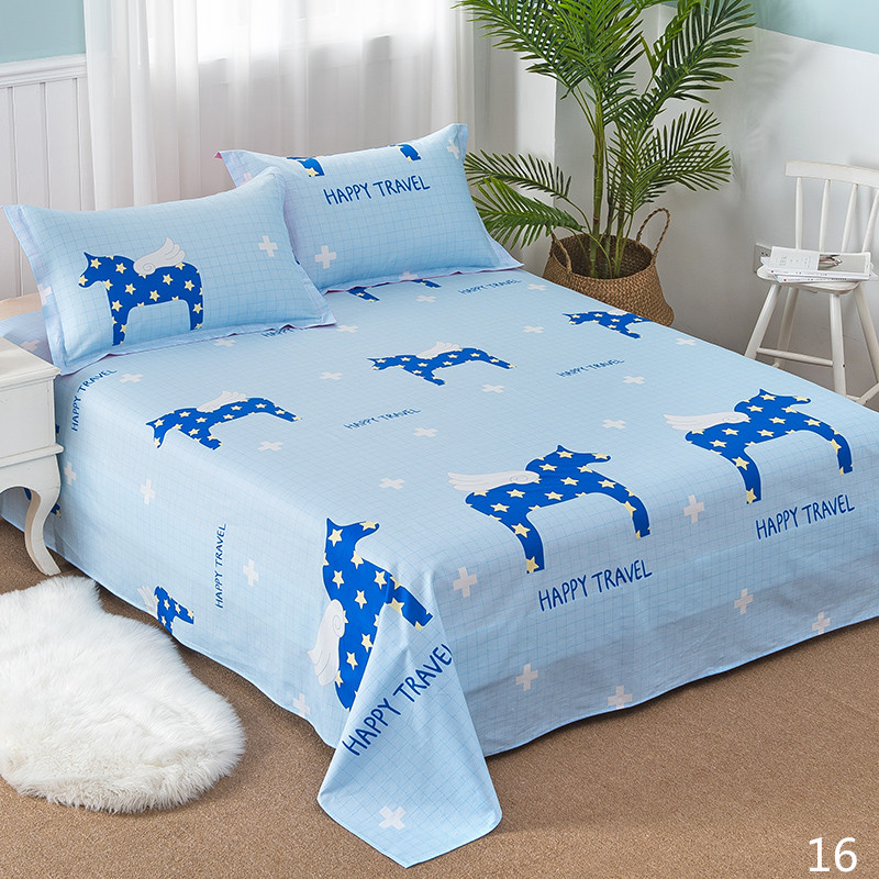 100% Cotton Modern Fashion Bed Flowers Flowers And Trees Printing Pattern 3pcs Bed Sheets Pillowcase Large Size 230x250cm 19