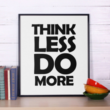 Think Less Do More, Inspirational Quotes, Motivational Quotes Wall Art, CanvasPainting Poster Oil Painting Canvas Art No Frame