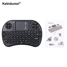 2016 New Mini Wireless Keyboard 2.4GHz English Air Mouse Keyboard Remote Control Touchpad For Android TV Box Notebook Tablet PC(China)
