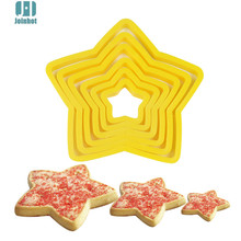 6pcs/set Star Shaped plastic Cake mold cookie cutter biscuit stamp fondant cake decorating tools(China)
