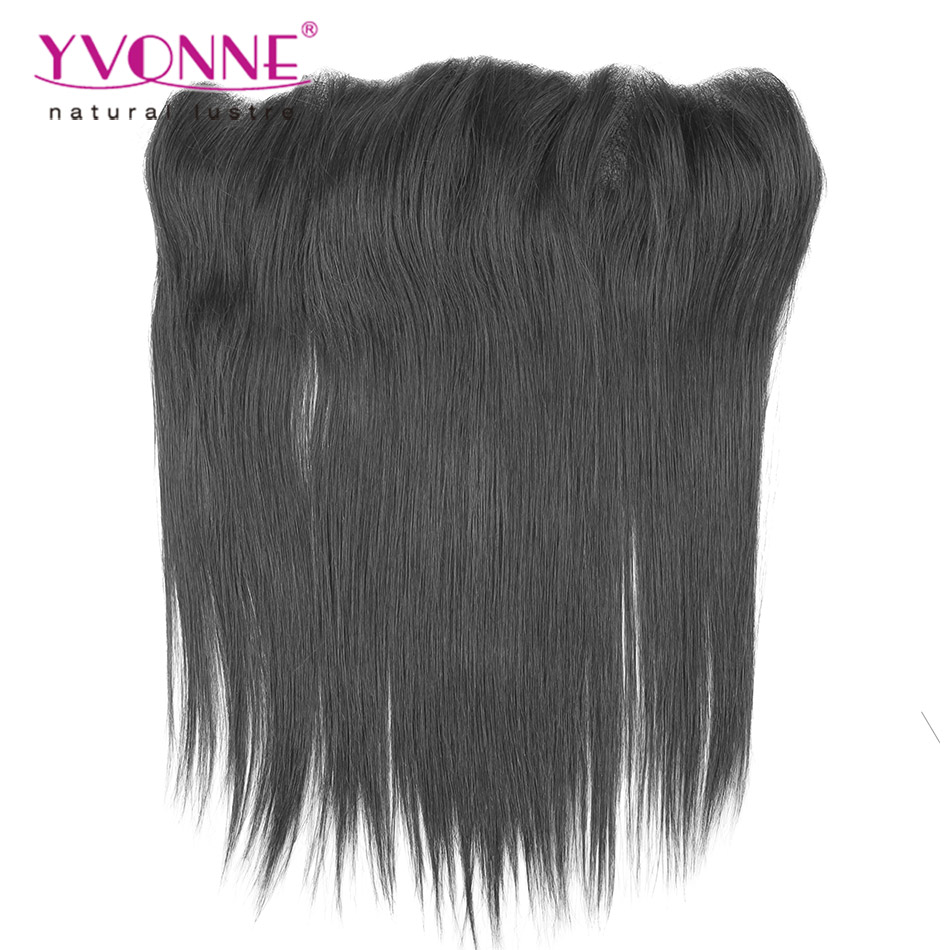 YVONNE Straight Brazilian Lace Frontal Closure,100% Virgin Hair Brazilian Human Hair Lace Frontal 13.5x4<br><br>Aliexpress