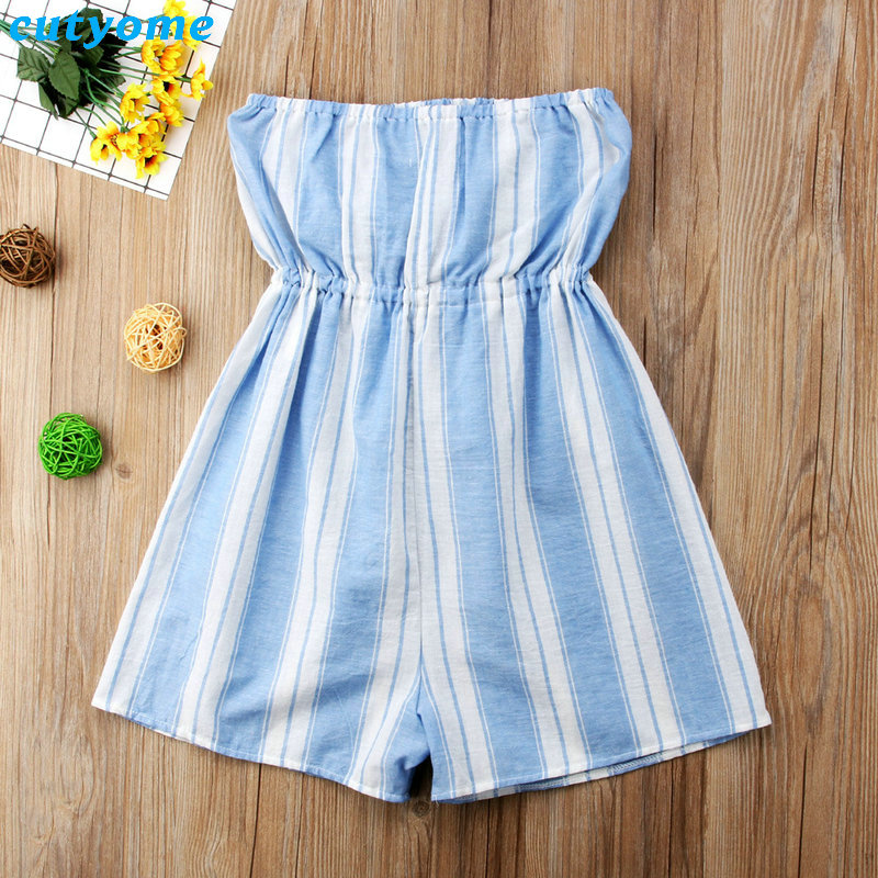 Mother Women And Daughter Girl Matching Clothes Striped Overalls Dress One-pieces Jumpsuits For Mommy And Me Family Outfits (9)