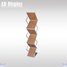 A4 Portable Aluminum Brochure Stand With Hard Case,Exhibition Advertising Catalogue Holder,Business Magazine Display Rack(China)