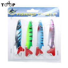 4Pcs 10cm 11g Hard Fishing Lures Spoon Lure Sequin Paillette fishing Baits Treble Hook Set Pesca Tackle