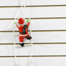 Christmas Decoration Supplies Creative Red Sling Santa Claus Ornaments An old man climbing stairs Home Decoration for Christmas(China)