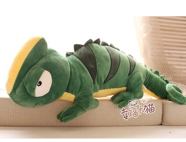 Candice guo plush toy stuffed doll cartoon animal long chameleon tuatara pillow cushion children birthday gift christmas present<br><br>Aliexpress