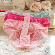 Buy 2017 Sexy Underwear Women Hollow Lace Lovely Crotchless Cotton Panties Seamless String Briefs Culotte Femme Calcinha Ropa Mujer