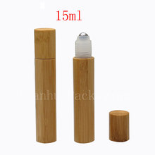 15ml X 50pc bamboo roll on eye cream bottle ,15cc roller vial , perfume bottles,SPA oil bamboo bottles ,wood unique container