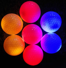 New fashion Multi-Color Light Up Flashing LED Electronic Golf Practice Balls rubber Luminous indoor Night Golfing 2017 Hot sale