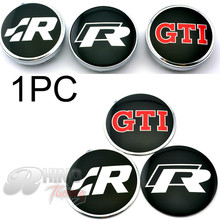 Rhino Tuning 1PC R Series 56mm Wheel Center Badge Emblem GTI 1PC 60mm Wheel Center Caps For Caddy Transporter up! Touran(China)