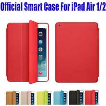 Brand New official Design Fashion PU Leather Smart Case For Apple iPad Air 1 2 Flip Cover Case For iPad 6 + Screen Film NO: I607(China)