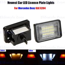 2 x LED Number License Plate Lamps OBC Error Free 18 LED For Mercedes Benz GLK 204