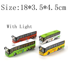 New Toy bus Car Scale Model cars with music pull back miniature bus mini plastic babies toys little bus toys for children