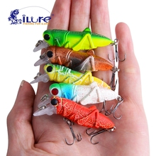 iLure Fishing Tackle Lure Minnow 2pcs 4.5cm/4.5gBass insect bait lure Grasshopper Freshwater Hard Baits fly fishing Wobbler Lure