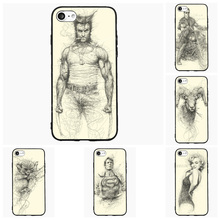 Wolverine Cool Sketch For Samsung Galaxy S Note 2 3 4 5 6 7 Edge Active Mini Cell Phone Cases Cover Shell Accessories Decor Gift
