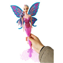 Fashion 40CM Original Swimming Mermaid Dolls Classic Ariel Mermaid Doll Toy With Butterfly Wings For Girl's Birthday Gifts XD149(China)