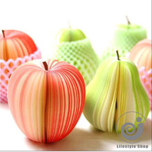 Creative fruit apple memo pad notepad paper sticker papelaria material escolar stationery school supplies