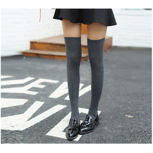 New Fashion Women Warm Over The Knee Stockings High Quality Long Cotton Thigh High Stocking Sexy Medias Drop Shipping(China)