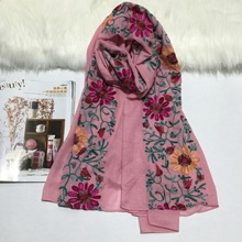 Helisopus 2017 New Winter Folk Style Creative Embroidery Shawl Cotton Retro Scarf  Sunscreen Folk Style Tourism Accessories