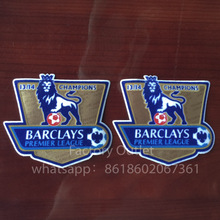 2 pcs a lot Soccer Patch 13 14 EPL goalden champion soccer patch for england Premier League game soccer Badges patch free ship(China)