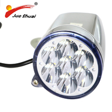 Modern Design 120CM Wire Electricl Bike Front Light Bicycle Front Light Round Head Lamp Electric Bike Lamps(China)