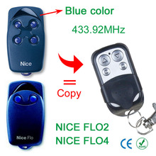 copy NICE FLO 1 FLO 2 FLO 3 FLO 4 (blue button) 433.92mhz remote control for garage door with battery