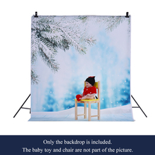 1.5 * 2m/4.9 *6.5ft Photography Background Backdrop Computer Printed Snow Ice Pattern for Kid Pet Photo Studio Portrait Shooting(China)